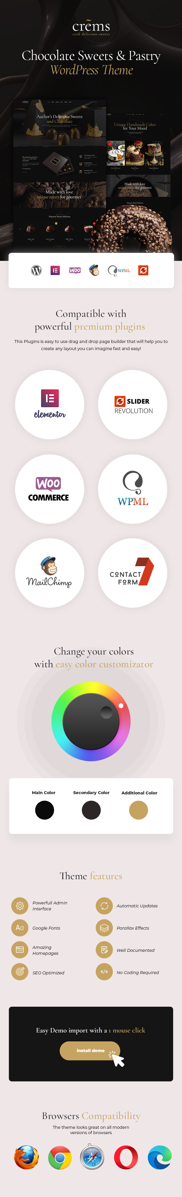 Crems - Sweets & Pastry WordPress Theme - 5